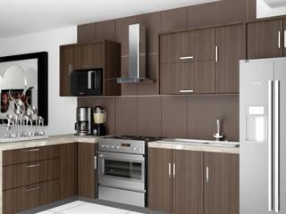 Cocina San andres: Cocinas equipadas de estilo  por Mon Arquitectos
