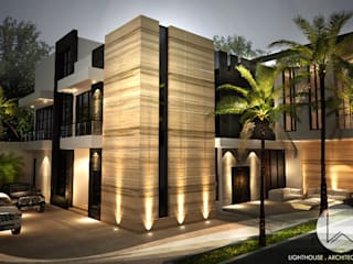 J House, Modern Style. Pematangsiantar City: Rumah oleh Lighthouse Architect Indonesia,