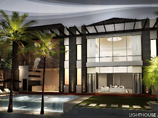 J House, Modern Style. Pematangsiantar City: Rumah oleh Lighthouse Architect Indonesia, Modern