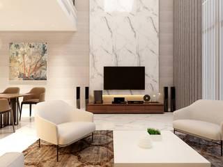 Dự án Galleria:  Phòng khách by thiết kế kiến trúc CEEB