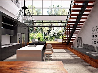 F House, Pematangsiantar City: Dapur oleh Lighthouse Architect Indonesia,