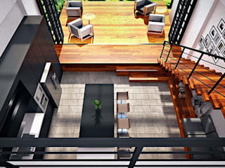 Lighthouse Architect Indonesia Modern style balcony, porch & terrace Wood effect