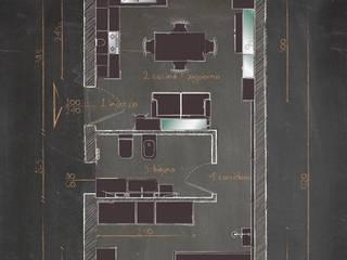 casa F: Cucina attrezzata in stile  di Studio Gentile,