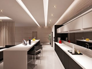 Salon minimaliste par Lighthouse Architect Indonesia Minimaliste