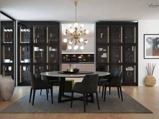 Comedores de estilo moderno por Santoro Design Render