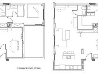 Reforma Vivienda Montecarmelo Casas de estilo moderno de gesHAB Interiorismo Moderno