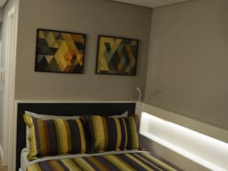 Studio 7Th: Quartos  por Machado Fontana | Arquitetura e Interiores
