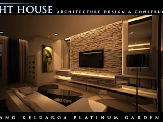 ONG, Platinum Garden. Medan City: Ruang Keluarga oleh Lighthouse Architect Indonesia,