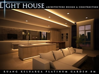 Soggiorno minimalista di Lighthouse Architect Indonesia Minimalista