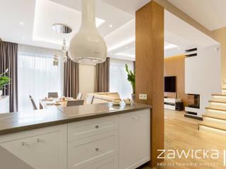 ZAWICKA-ID Projektowanie wnętrz Cocinas de estilo moderno Blanco