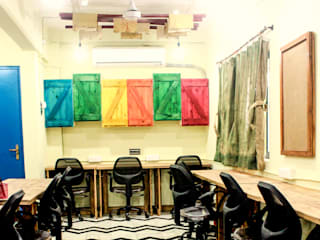 Co-Working Space - Zoomstart India - the first bohemian themed co-working space in India Dezinebox Office spaces & stores Wood Multicolored