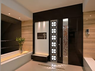 Outside Entrance Modern corridor, hallway & stairs by homify Modern