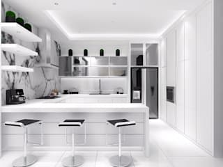 Cucina moderna di Lighthouse Architect Indonesia Moderno