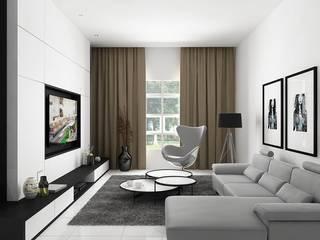 D hi-led House, Medan City Ruang Keluarga Modern Oleh Lighthouse Architect Indonesia Modern