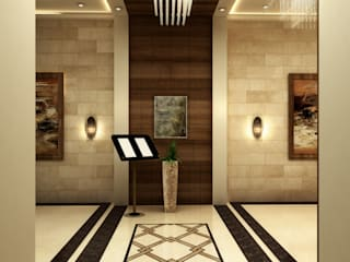 Wedding Hall Classic style corridor, hallway and stairs by SPACES Architects Planners Engineers Classic