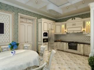Зеленая кухня в классическом стиле Кухня в классическом стиле от Цунёв_Дизайн. Студия интерьерных решений. Классический