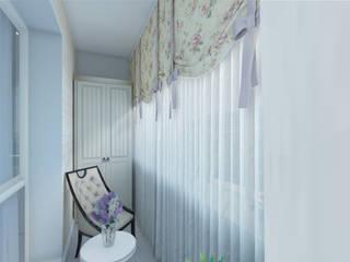 Balcones y terrazas de estilo mediterráneo de Студия интерьера 'IDEAL DESIGN' Mediterráneo