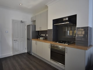 Refurbishment of a Victorian terrace property to be let out as an HMO Kerry Holden Interiors Unit dapur Grey