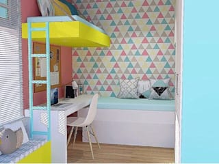 Kassia Rosa Designer de Interiores Nursery/kid's roomWardrobes & closets MDF Multicolored