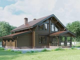 Проект деревянного дома из клееного бруса Таруса от ООО 'Студия Клееного Бруса' Классический