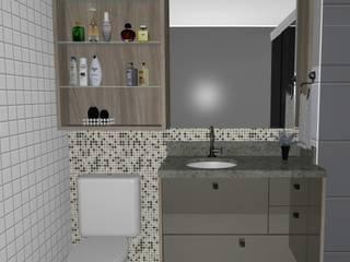 Banheiro em Niterói-RJ por Cezar Senra Arquitetura de Interiores Moderno