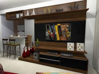 Home Theater por Cezar Senra Arquitetura de Interiores