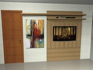 Painel TV para quarto por Cezar Senra Arquitetura de Interiores Moderno