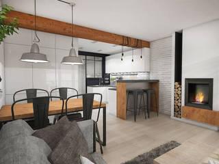 Loftowe wnętrze: styl , w kategorii Salon zaprojektowany przez Studio Archemia