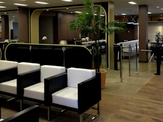 Recepção Hospital Hospitais modernos por Lopes de Moura Studios Moderno