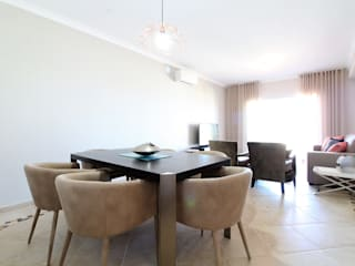 Casa Algarve -Black Diamond Salas de jantar ecléticas por Atelier Ana Leonor Rocha Eclético