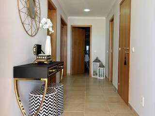 Casa Algarve -Black Diamond Corredores, halls e escadas ecléticos por Atelier Ana Leonor Rocha Eclético