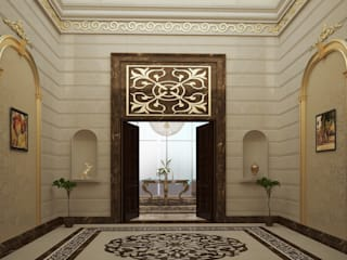 Private palace - Saudi Arabia Classic style corridor, hallway and stairs by SPACES Architects Planners Engineers Classic