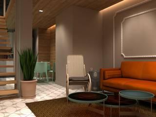 Proyecto de interiorismo para un apartamento en el barrio de Le Marais en Paris Salones de estilo ecléctico de Interiorismo Conceptual estudio Ecléctico