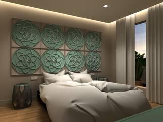 Eclectic style bedroom by Interiorismo Conceptual estudio Eclectic