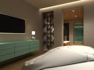 Proyecto de interiorismo para un apartamento en el barrio de Le Marais en Paris Dormitorios de estilo ecléctico de Interiorismo Conceptual estudio Ecléctico