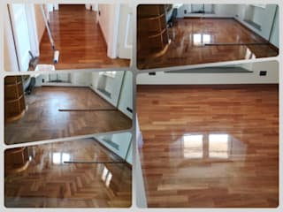 Soloparquet Srl Classic style living room Solid Wood Brown
