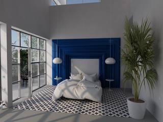 Un cabecero poco convencional. Dormitorios de estilo moderno de Interiorismo Conceptual estudio Moderno
