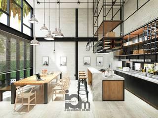 Loft white:   by i am architect CO.,Ltd.