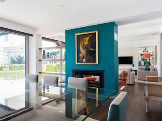 Sala  - Paço de Arcos, Oeiras:   por Traço Magenta - Design de Interiores