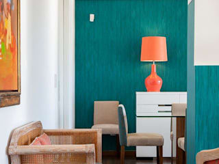 Vista para a Zona de refeição: Sala de jantar  por Traço Magenta - Design de Interiores