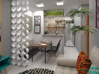 Apartamento Do It Yourself Salas de estar industriais por Plano A Studio Industrial