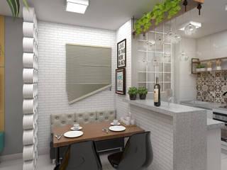 Apartamento Do It Yourself Salas de jantar industriais por Plano A Studio Industrial