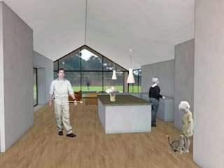 Walled Garden House - Horndean dwell design ห้องนั่งเล่น