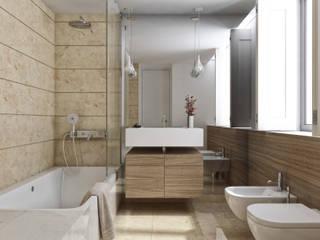 Aguiar 84   Client: Estoril Real Estate Casas de banho modernas por Onstudio Lda Moderno