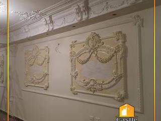 كاسل للإستشارات الهندسية وأعمال الديكور والتشطيبات العامة Paredes y pisosDecoración para la pared Piedra Ámbar/Dorado