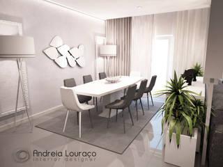 """projecto """"Jungle"""": Salas de jantar  por Andreia Louraço - Designer de Interiores (Contacto: atelier.andreialouraco@gmail.com)"""