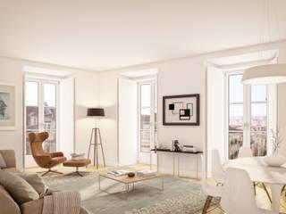 Alecrim 24 - Stone Capital Salas de estar modernas por Onstudio Lda Moderno