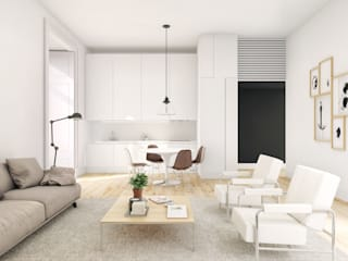 Arco Augusta - Stone Capital Salas de estar modernas por Onstudio Lda Moderno