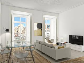 Bacalhoeiros 99 - Stone Capital Salas de estar modernas por Onstudio Lda Moderno