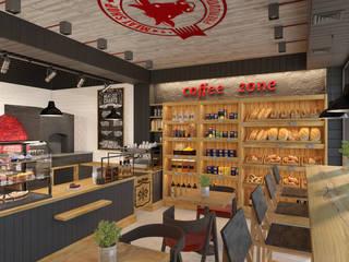 Artichok Design Offices & stores Wood Multicolored